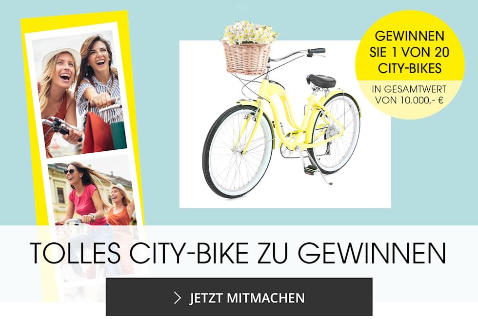 MIAMODA, große Größen, Gewinnen Sie 1 von 20 City-Bikes im Gesamtwert von 10.000€