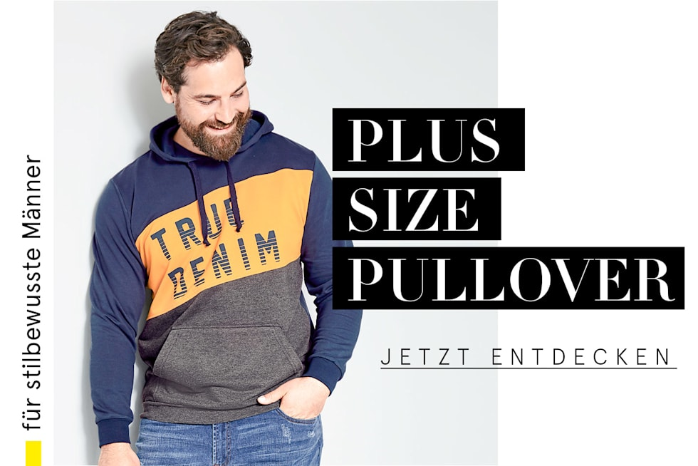 Plus Size Pullover Herren