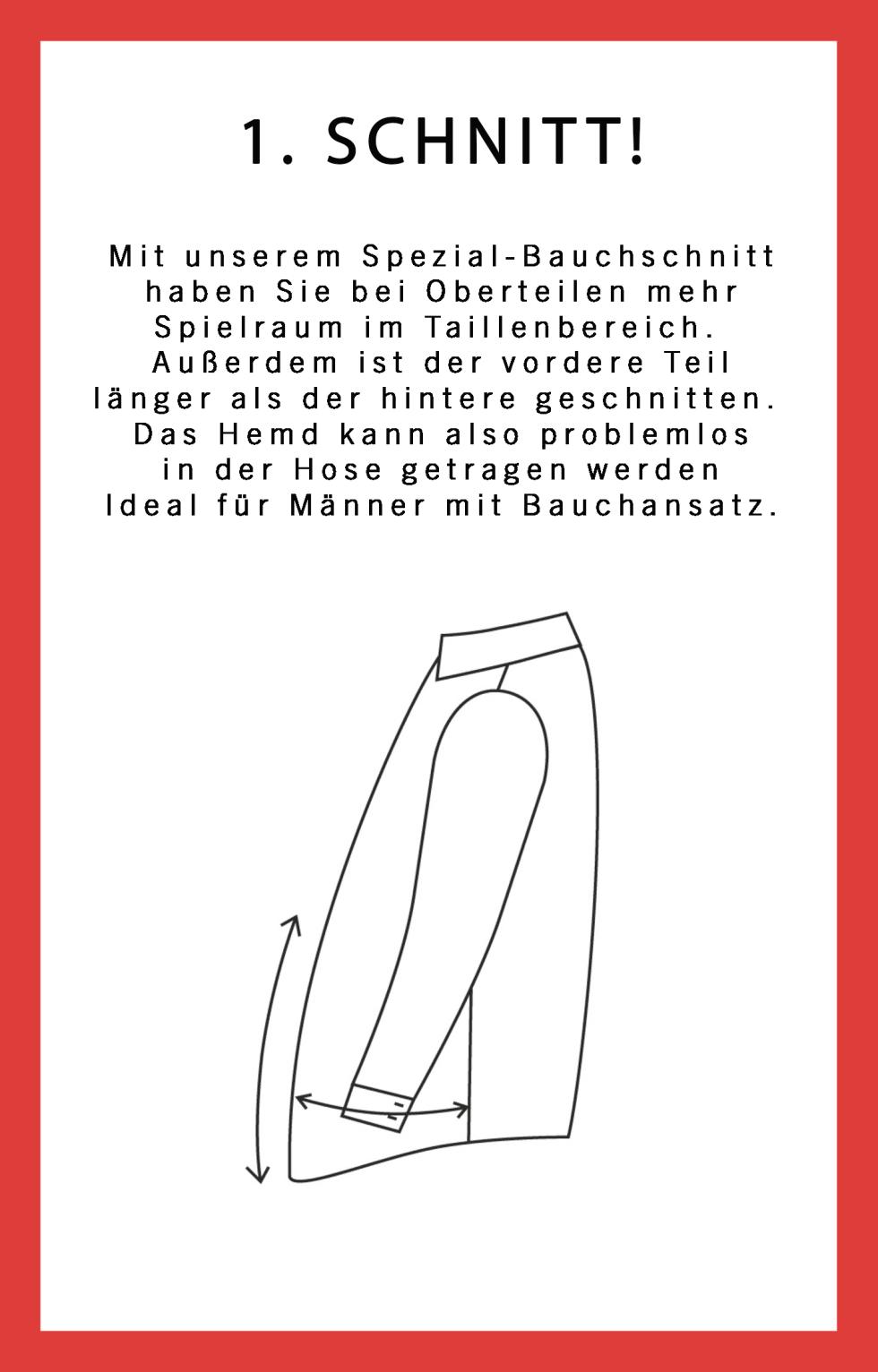 Men Plus Spezialschnitt-Hemden