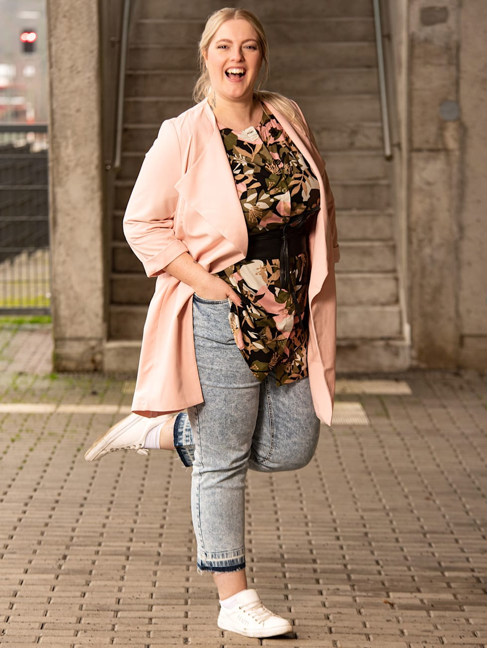Blogger Outfit Blumig