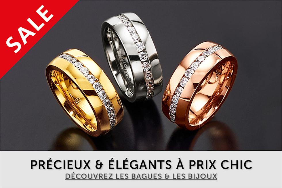 Bagues et bijoux à prix avantageux