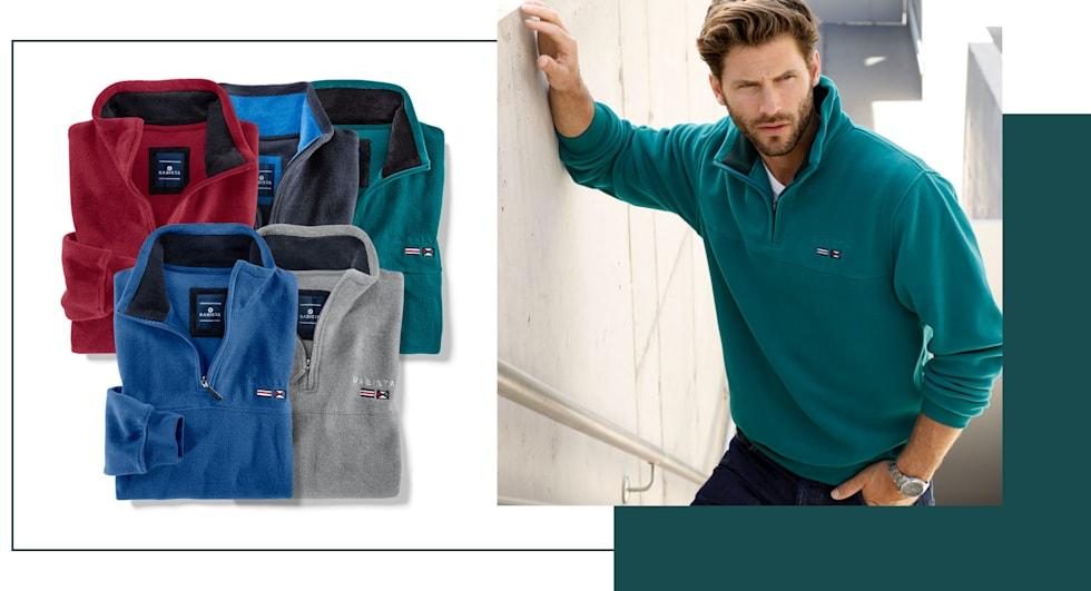 Nur 50 €: 2 Fleece-Sweatshirts Ihrer Wahl in 5 verschiedenen Farben