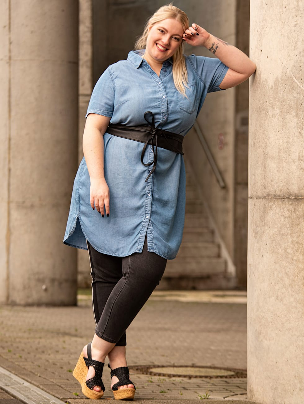 Blogger Outfit Alex Jeansbluse