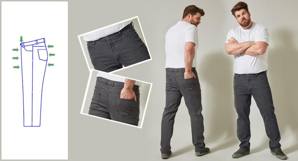 Jeans homme coupe  spéciale ventre