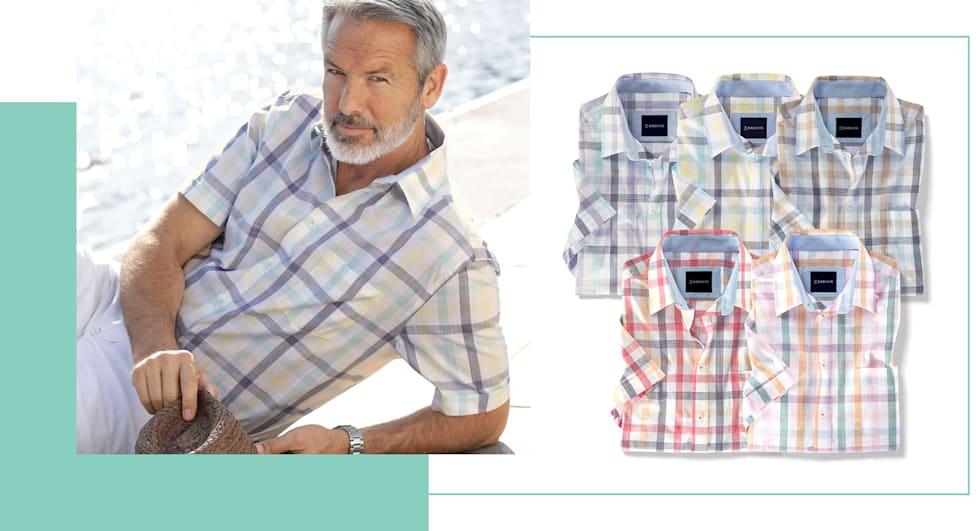 2 für 1: Kurzarmhemden