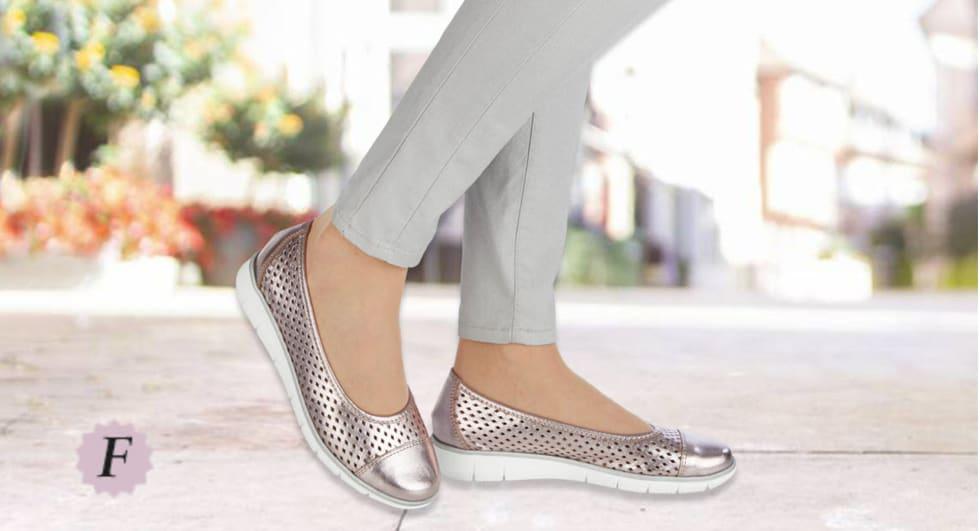 Schuhmodelle in Schuhweite F
