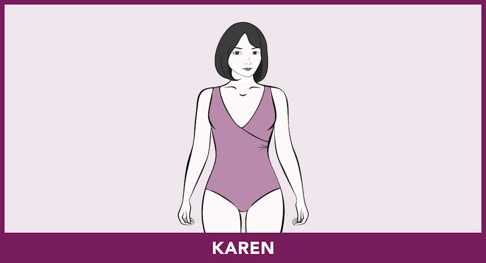 Badmode-pasvormen - Karen