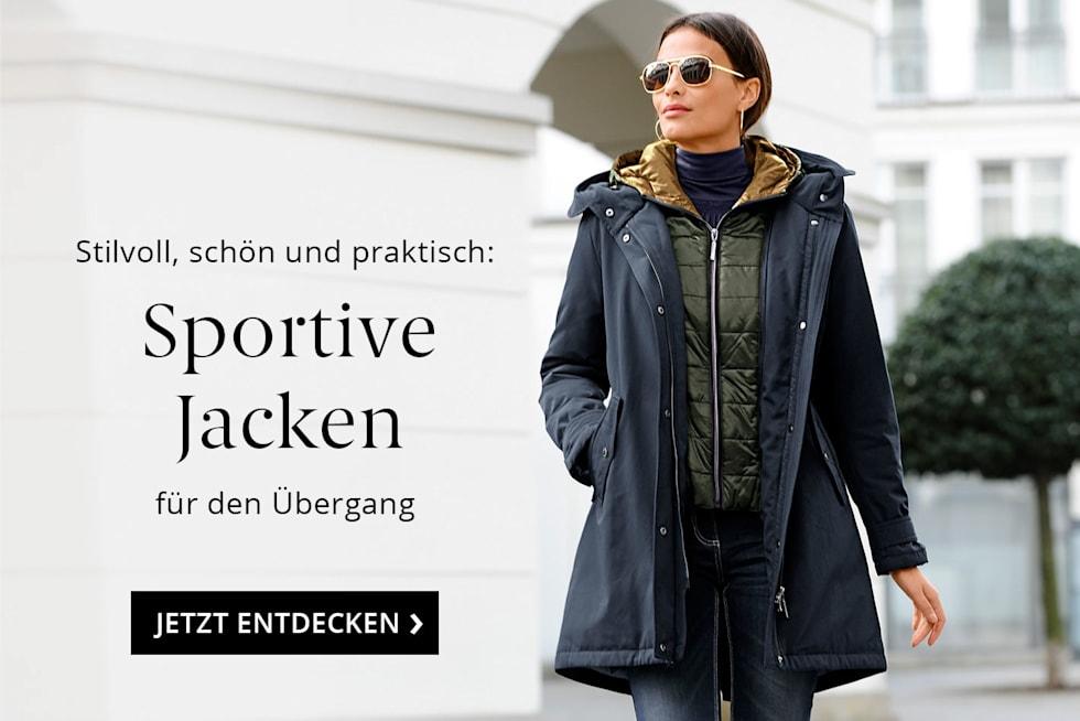 Sportive Jacken für den übergang