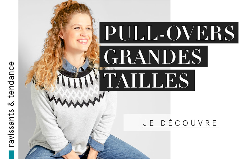 Pull-overs grandes tailles