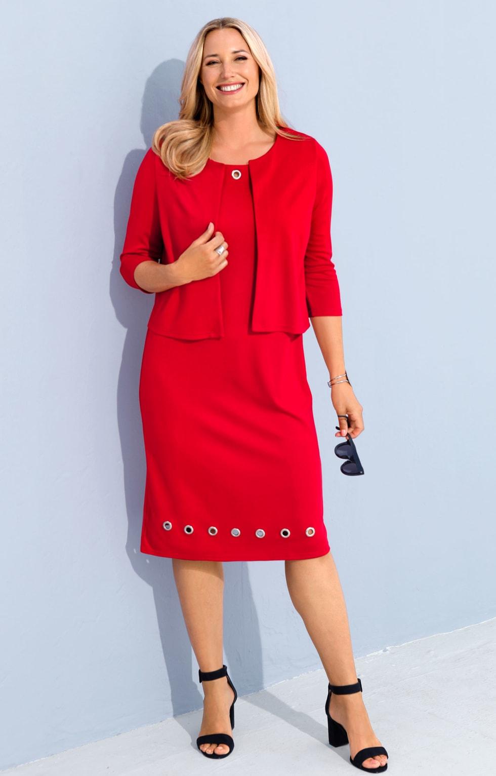 MIAMODA Outfit Blazer und Kleid