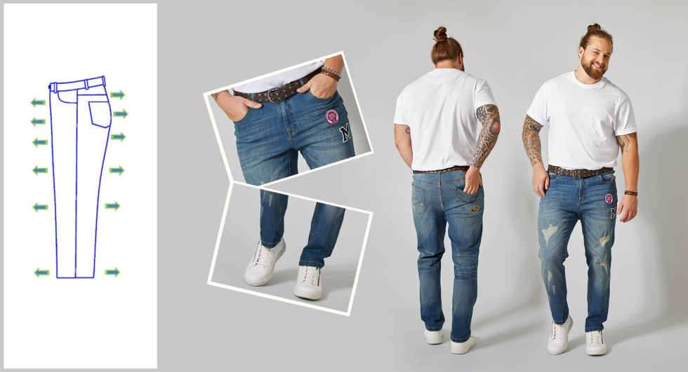Tapered Fit Jeans Heren