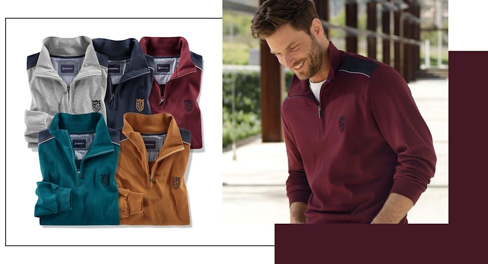 Nur 55 €: 2 Sweatshirts Ihrer Wahl in 5 verschiedenen Farben