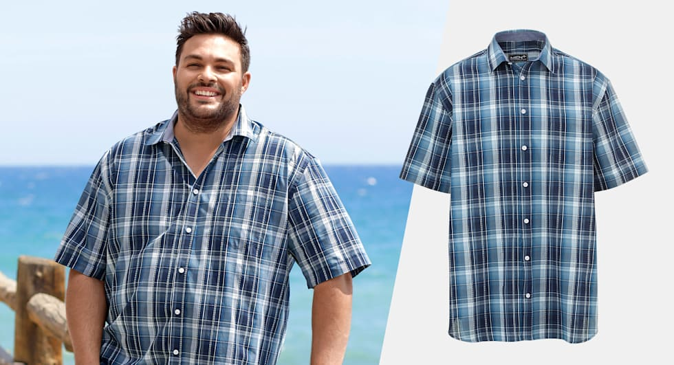 Plus Size overhemden met korte mouw