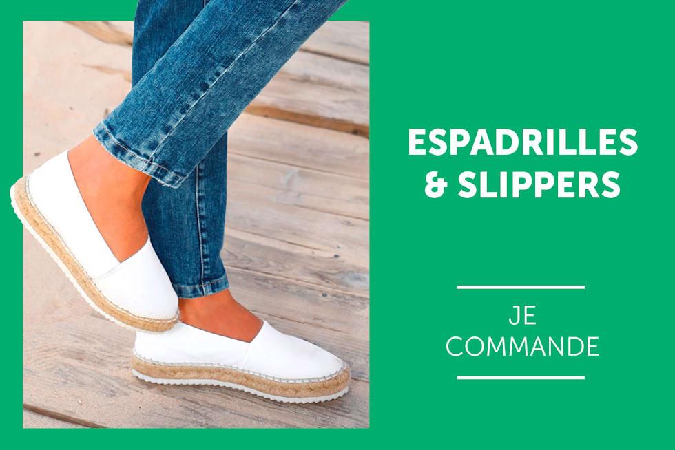 Femme espadrilles et slippers