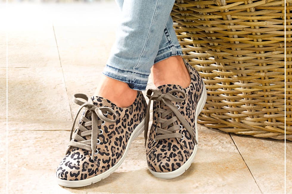 Schuhe in Animal-Print