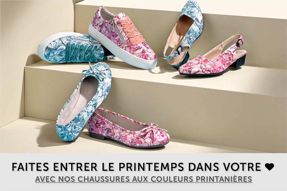 chaussures aux couleurs printanières