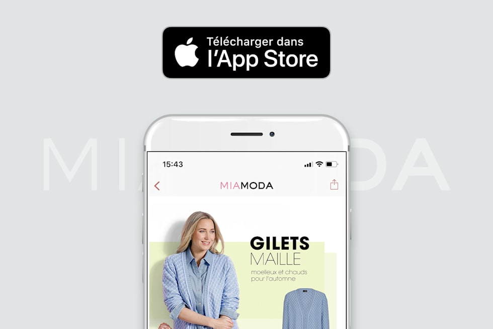 MIAMODA Big Sizes Mobile App Apple Store Télécharger maintenant