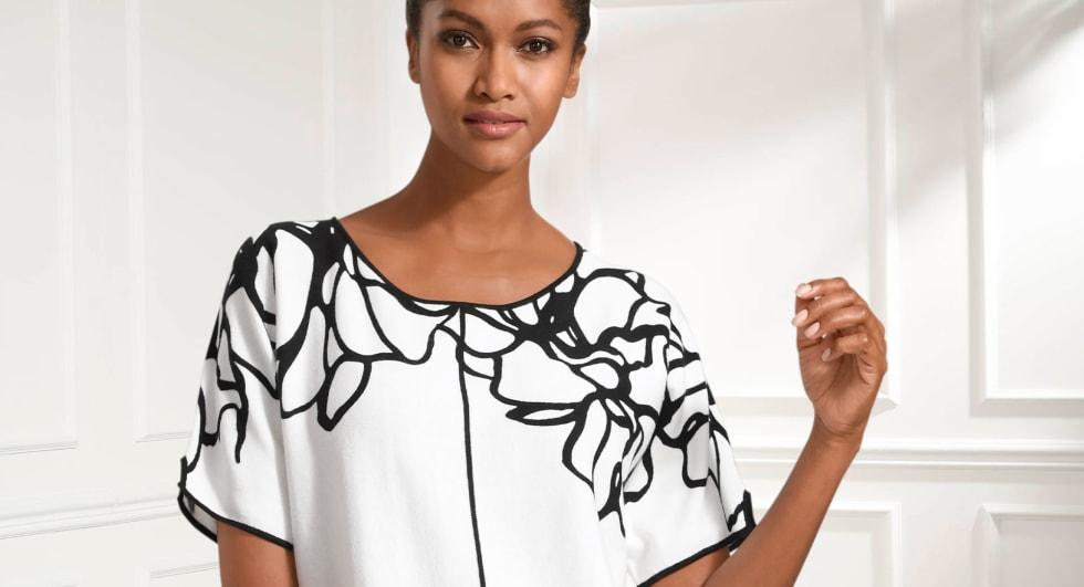 Die Farbkombination Schwarz und Weiß ist ein echter Klassiker und die Stylingmöglichkeiten endlos.