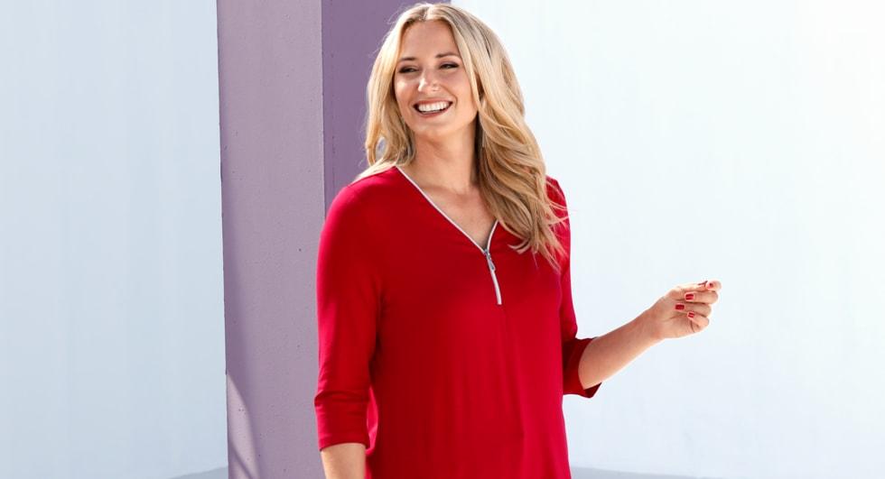 MIAMODA Große Größen Trendfarbe Rot Outfits