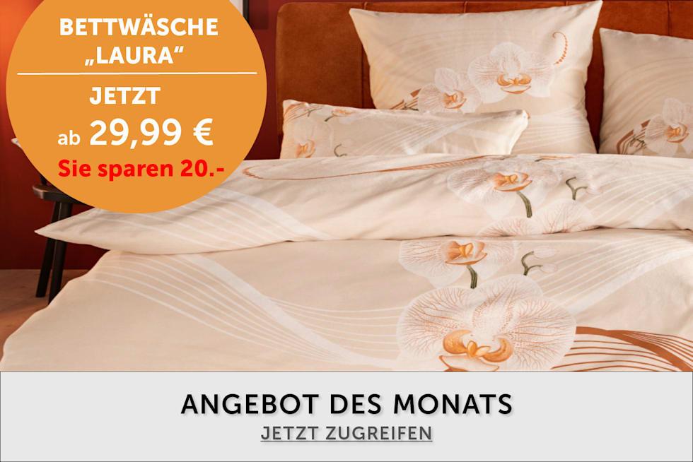 Angebot des Monats - Bettwäsche ab 29,99€