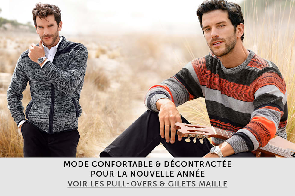 Les  pull-overs & gilets maille pour homme