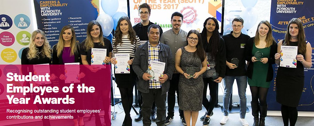 Nominations now open - Student Employee of the Year Awards 2018