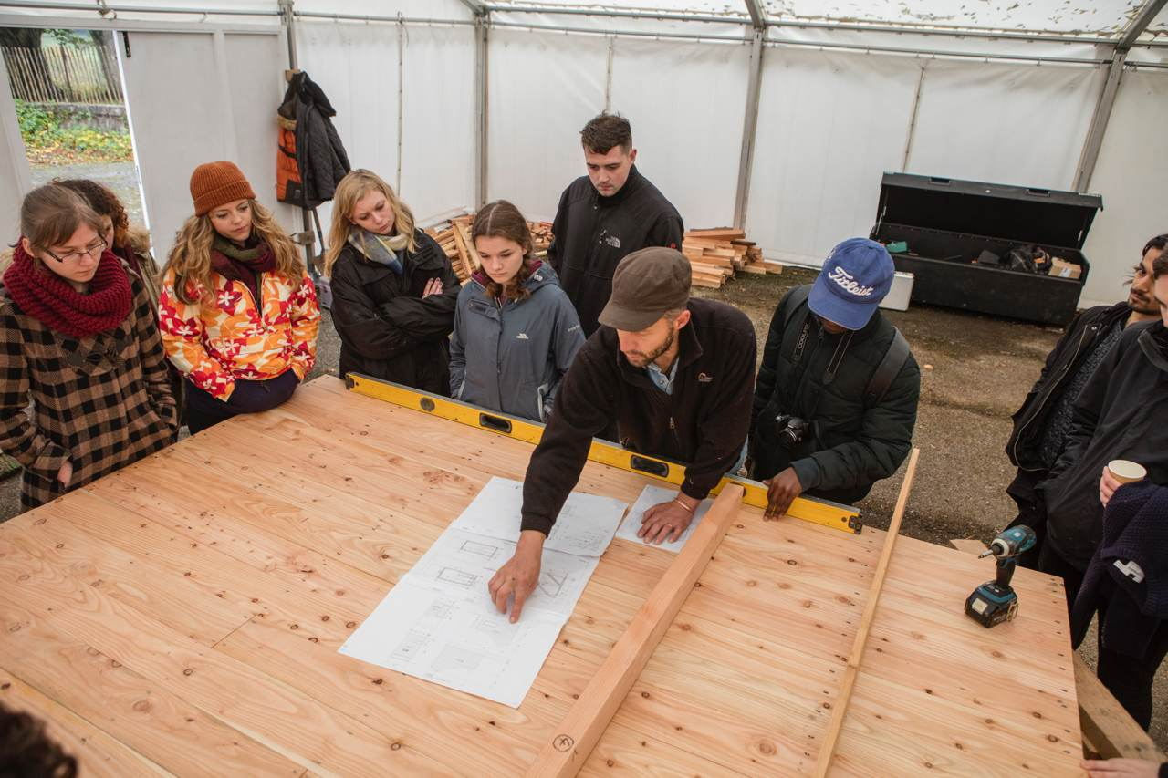 Students create unique camping experience on Dartington estate