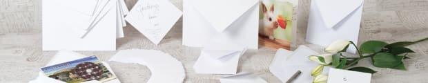 Greetings envelopes, Coloured greetings envelopes, White greetings envelopes