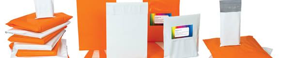 Sachets de Polyéthylène pour courrier, 145x195 mm Sachet blanc de Polyéthylène pour courrier, Blanche, Auto-adhésive avec Bande Détachable, Polyéthylène, 170x245 mm Sachet