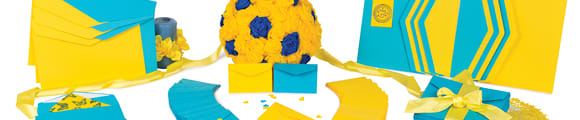 Sluiting met puntige klep, Peel & Seal enveloppen met venster, Blauw, Plakstrip, Papier