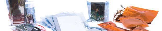 Anti-static bags, 130x80 mm Smoke Grey Anti-Static Bag, Clear Smoke Grey, Peel and Seal, Polyethylene, Grey, 162x114 mm (C6) Smoke Grey Anti-Static Bag, C6, 165x165 mm Smoke Grey Anti-Static Bag, Square, 220x110 mm (DL) Smoke Grey Anti-Static Bag, DL, 220x220 mm Smoke Grey Anti-Static Bag, 229x114 mm Smoke Grey Anti-Static Bag, 229x162 mm (C5) Smoke Grey Anti-Static Bag, C5, 324x229 mm (C4) Smoke Grey Anti-Static Bag, C4, 350x280 mm Smoke Grey Anti-Static Bag