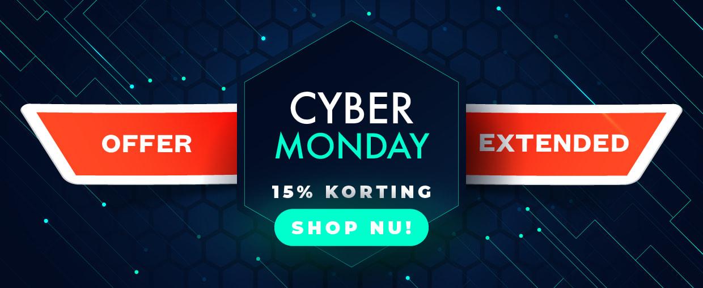 Cyber Monday. 15% korting bij alle bestellingen van €25. Code CBM15. We verlengen tot 6 december
