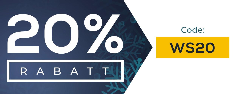 20% Rabatt für Bestellungen über 25€. Code WS20.