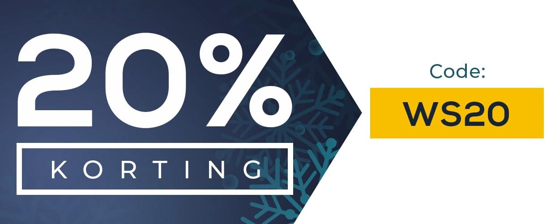 20% korting bij bestellingen van meer dan €25. Code WS20.