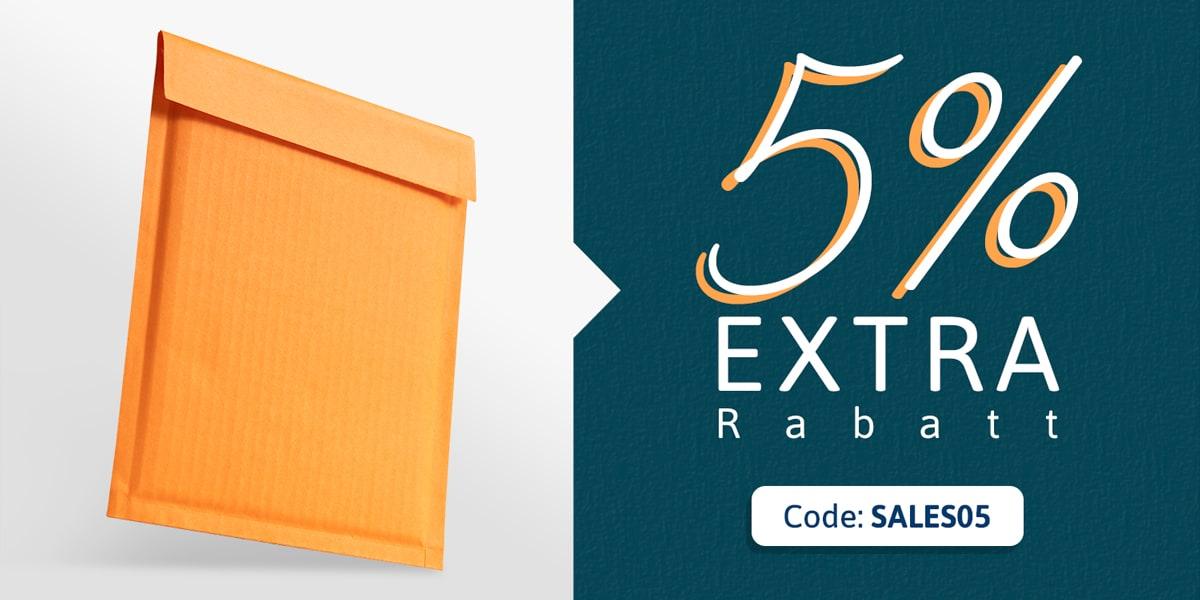 5% Rabatt für Bestellungen über 50€. Code SALES05.