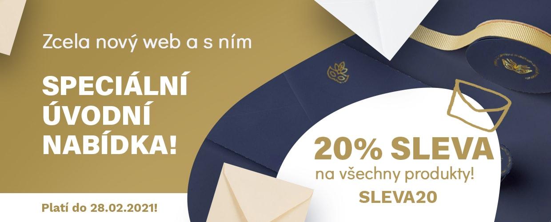 Sleva 20% na všechny objednávky nad 600 Kč. Kód: SLEVA20.