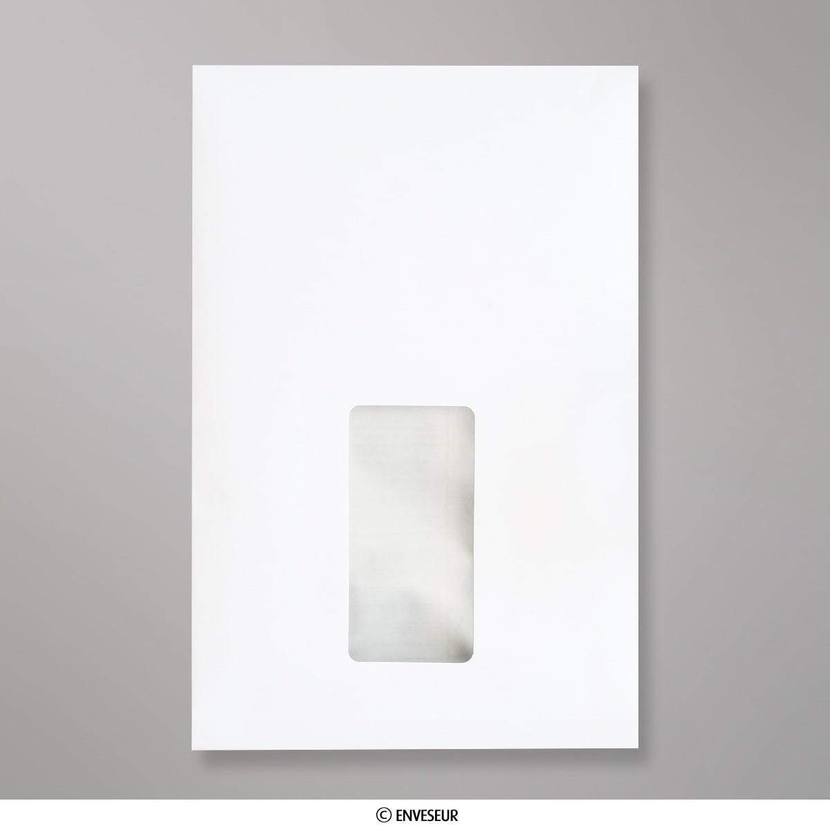 229x162x25 Mm C5 Enveloppe Blanche à Fenêtre Avec Soufflet