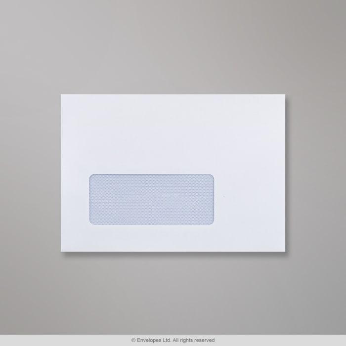 Weißer Briefumschlag mit Fenster 114x162 mm (C6)