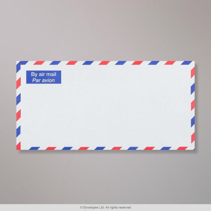 110x220 mm (DL) Biała koperta na pocztę lotniczą