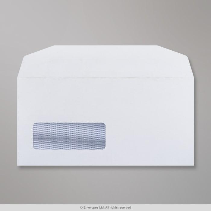 Weißer Briefumschlag mit Fenster 110x220 mm