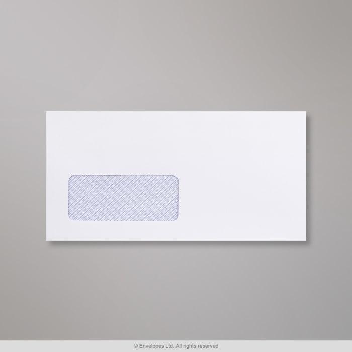 Weißer Briefumschlag mit Fenster 110x220 mm (DL)