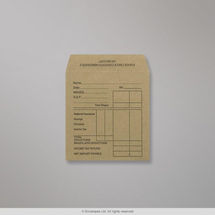 Manillanruskea kirjekuori 108x102 mm