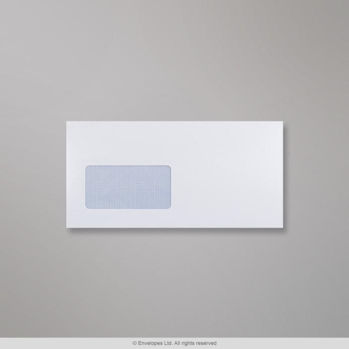 114x229 mm Biała koperta z okienkiem