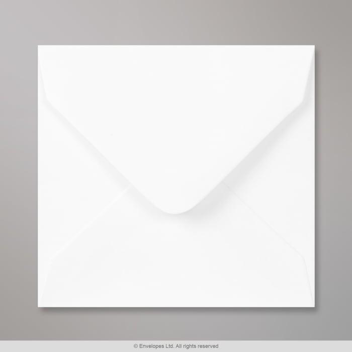 100x100 mm Witte envelop, vierkant, gegomd, zonder venster