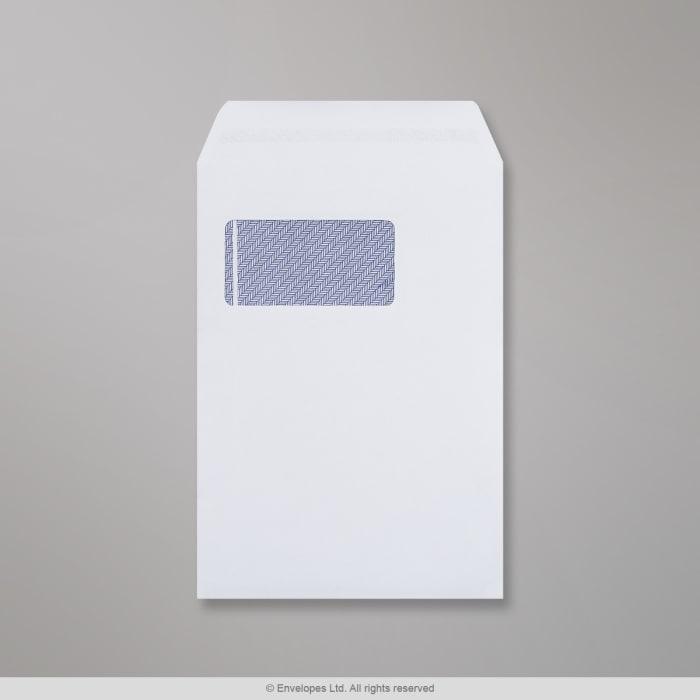 Sobre blanco con ventanilla de 229x162 mm (C5)
