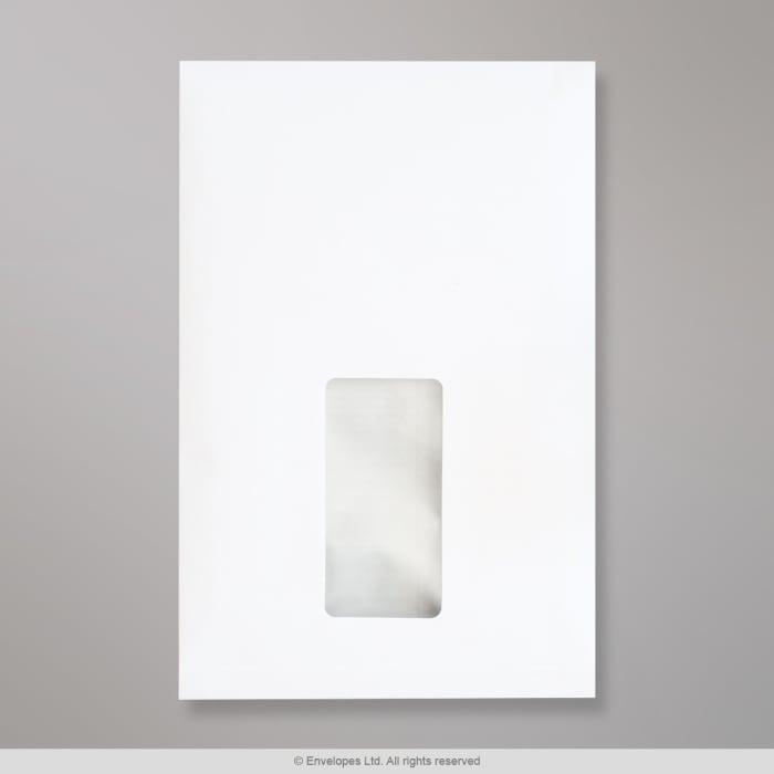 Enveloppe blanche à fenêtre avec soufflet 229x162x25 mm (C5)