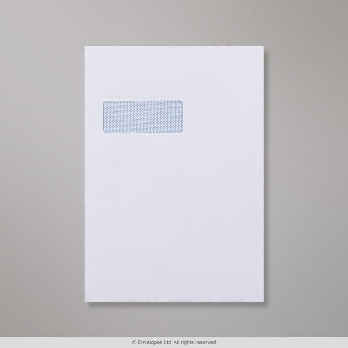Valkoinen, lasertaattu kirjekuori 324x229 mm (C4)