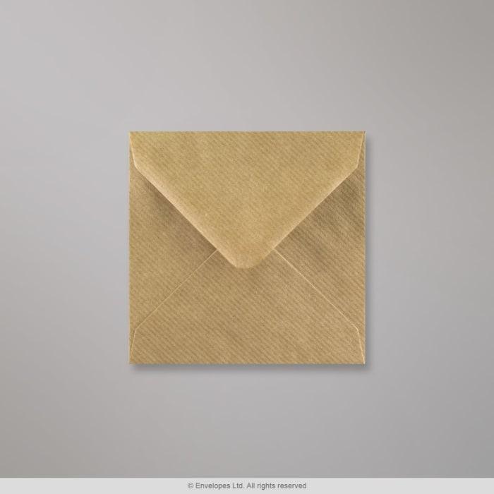 Ruskeajuovallinen kirjekuori 116x116 mm