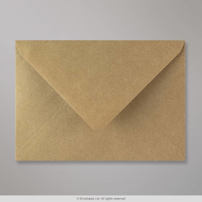 Ruskeajuovallinen kirjekuori 125x175 mm