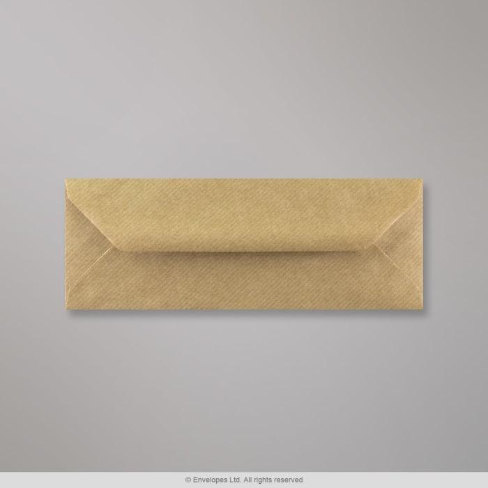 Brun konvolut med riller 80x215 mm